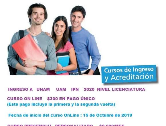 Curso de Ingreso a UNAM On Line