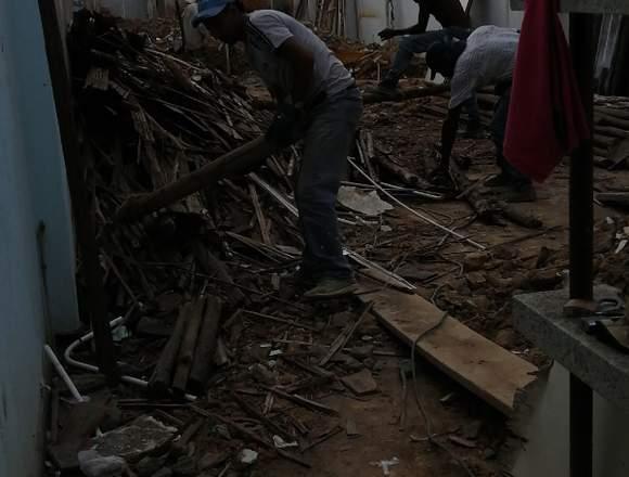 Retiro de escombro, suministro de material