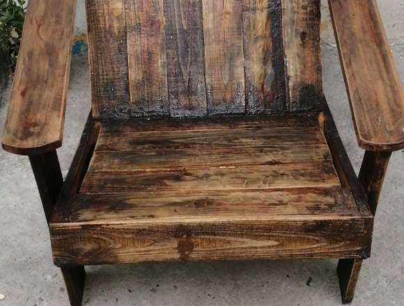 vendo silla rustica nueva
