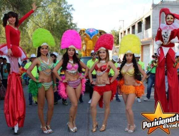 Show para Desfiles y Ferias: Batucada, Zanqueros