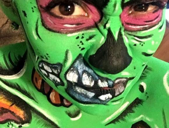 Maquillaje, Body paint para Halloween
