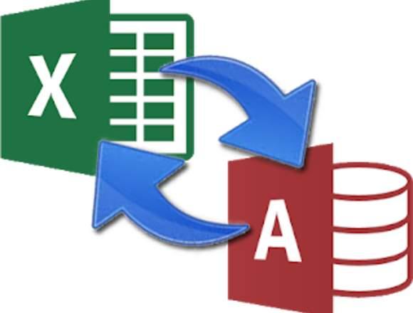 Trabajos de Excel, Acces, Macros VBA, SQL.