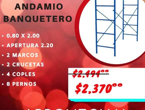 Andamio Banquetero de 0.80x2.00 mts. Promociones