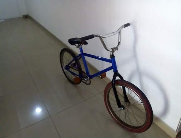 Bicicleta Bmx Rodado 20 Azul Metalizado
