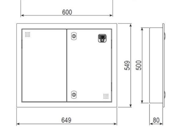 Caja Terminación Red Embutir 500x600x80 CTR-50608