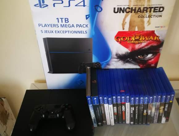 PS4 1TB   + 19 jeux