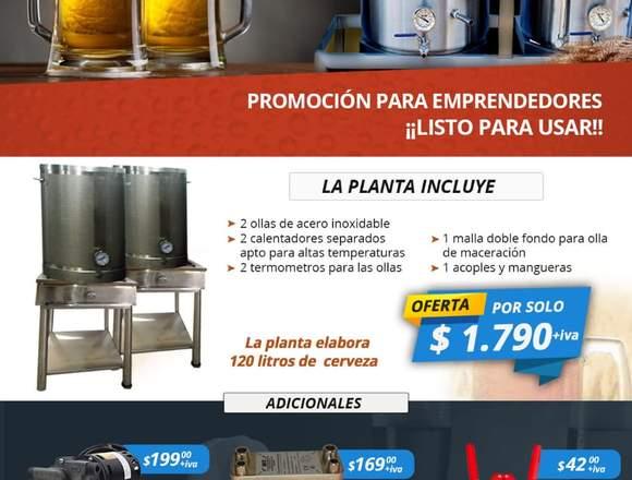 Promociòn  Planta para elaborar Cerveza Artesanal