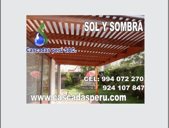techos de madera sol y sombra