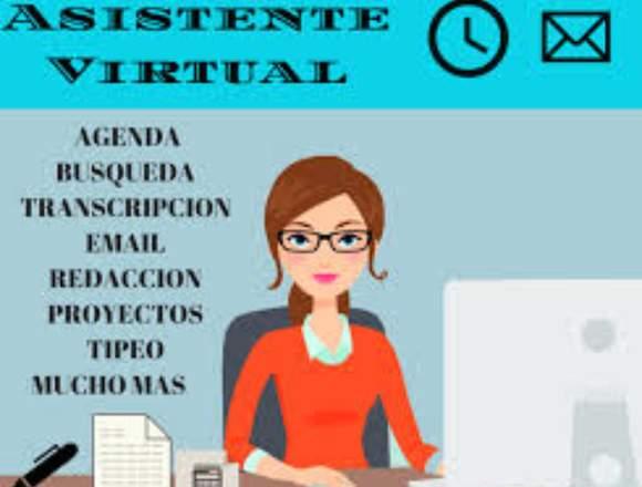 Asistente administrativo(a) virtual medio tiempo