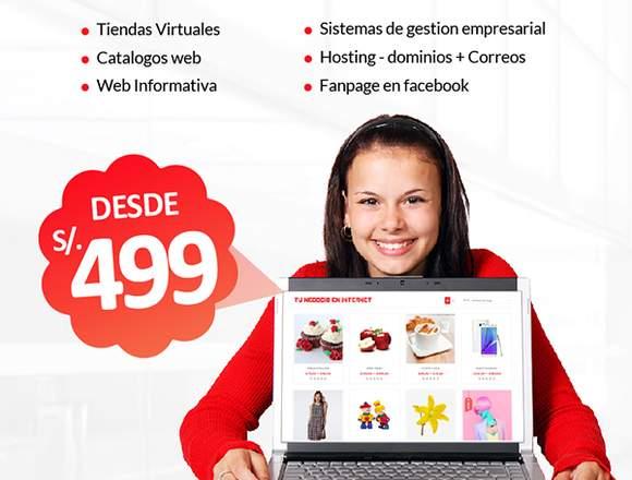 Diseño web, catalogos web y Tiendas Virtuales