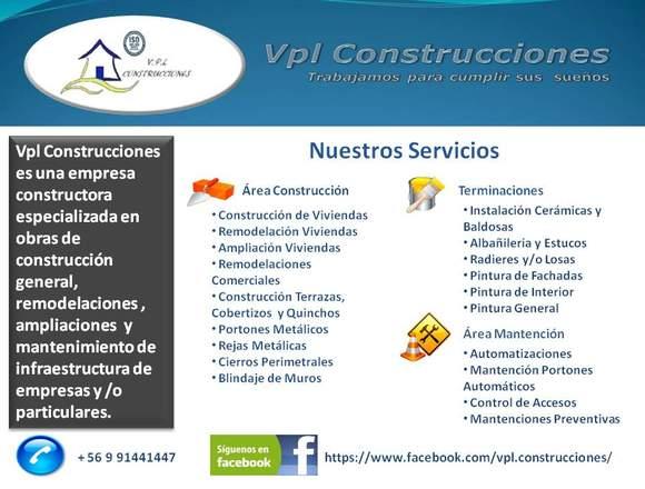 Construcciones - Remodelaciones - Ampliaciones