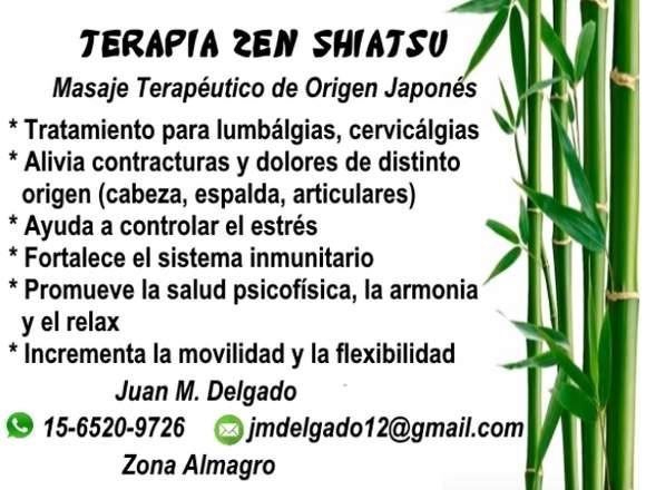 Masaje Terapéutico Zen Shiatsu