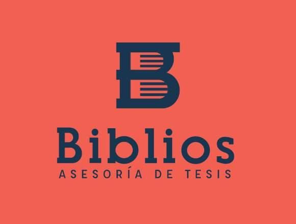 BIBLIOS ASESORIA DE TESIS