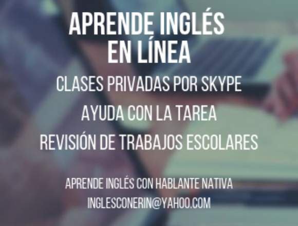 Aprende inglés con hablante nativa