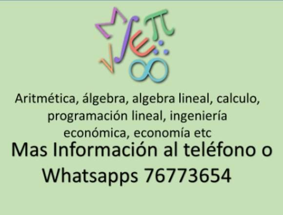 Clases De Matemática a todo nivel muy economico