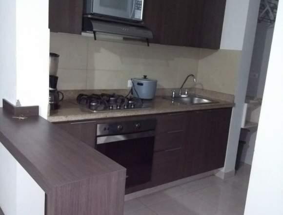 Apartamento amoblado para rentar en el octavo piso