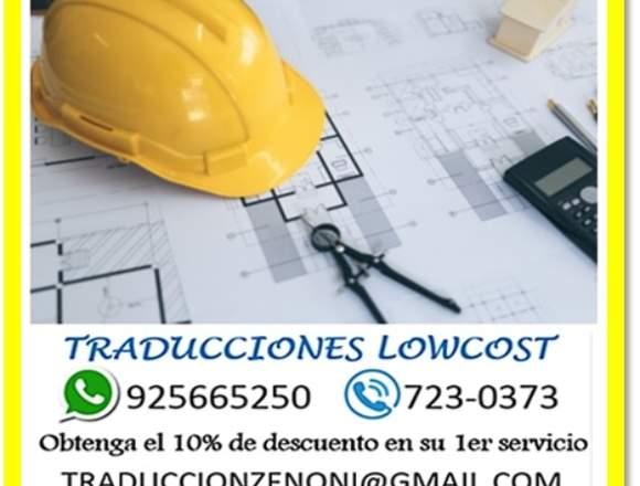 Traducciones tecnicas, consultas al 925665250