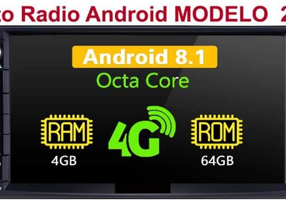 "Autoradio :Android 8.1 4GB + 64GB 7 ""Doble Din ,4G"