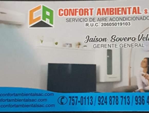 Aire acondicionado residenciales,oficinas y negoci