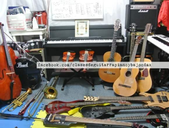 Clases de Guitarra Clasica, Electr, Piano y Bajo