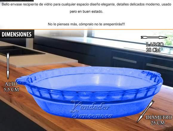 Bandeja Pyrex Made In Usa  Azul Cocina Al Horno