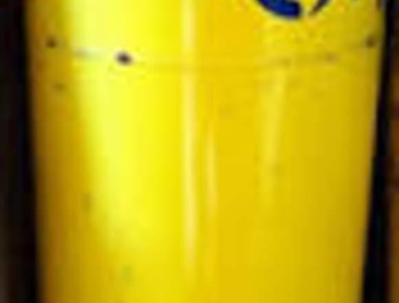 Galón de gas de 45 kilos vació