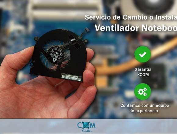 Cambio e instalación ventilador Notebook