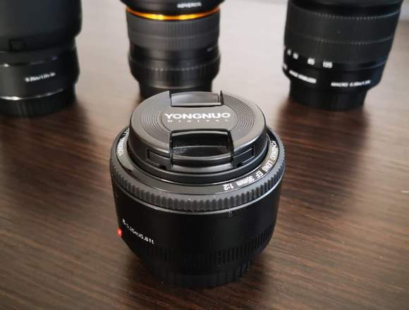 Canon T7I Profesional Reflex + 4 lentes
