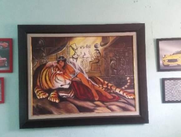 vendo cuadro pintura de 50x40  de pintor seferino