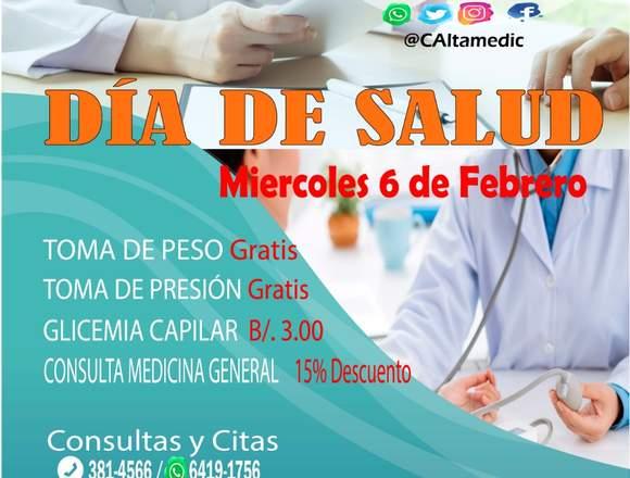 DÍA DE SALUD MIÉRCOLES 6 DE FEBRERO