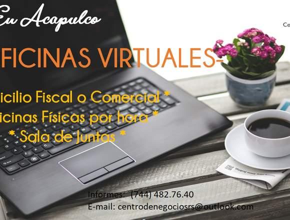 Renta de oficinas Virtuales en Acapulco,Gro.