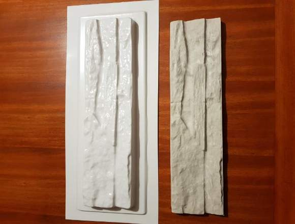 6 Moldes Pvc tipo piedra muro revestimiento