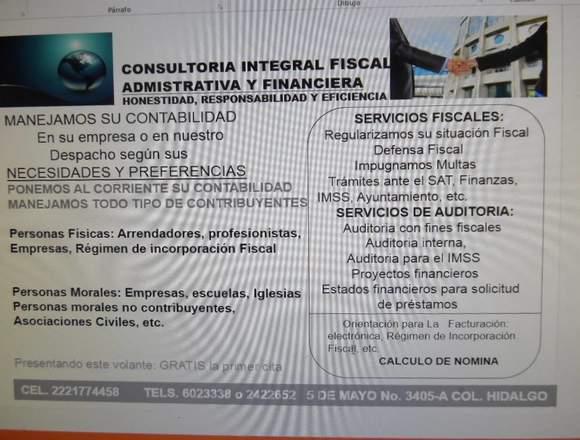 ASESORIA CONTABLE, FISCAL, FINANCIERA Y AUDITORIA