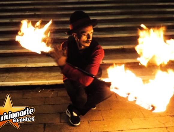 Show de fuego, malabares, danza aérea / Circo