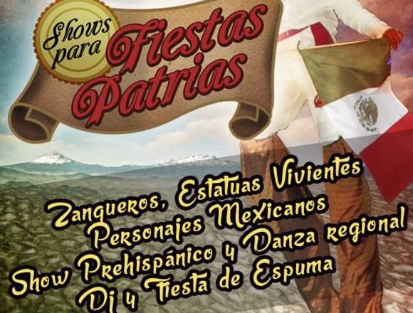 Shows de Fiestas Patrias: Zanqueros, folclor
