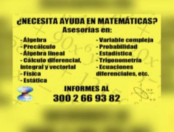 ¿Necesita ayuda en Matemáticas?