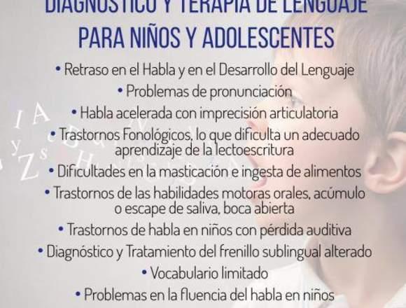 DIAGNÓSTICO Y TERAPIA DE LENGUAJE