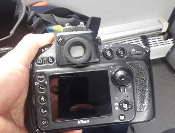 Camara  Nikon D800 y lente