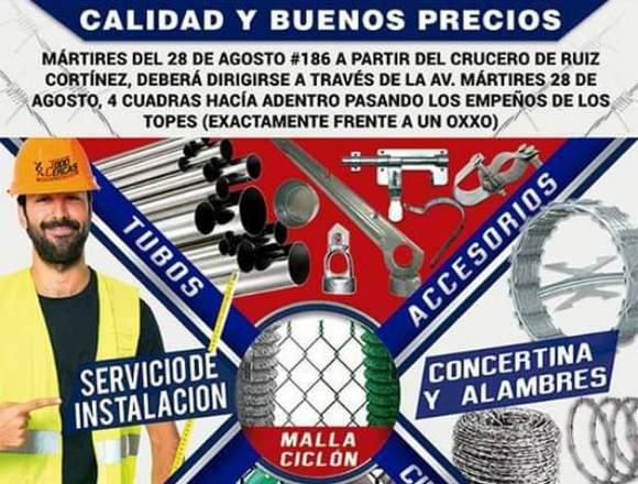 MATERIALES PARA PROTECCIÓN Y CERCADOS