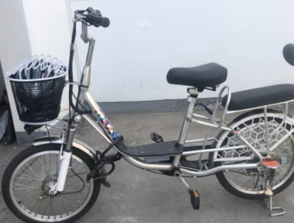 Bicicleta eléctrica con 6 meses de uso