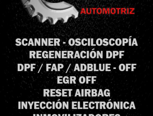 scanner / regeneracion dpf / Dpf off / Egr off.