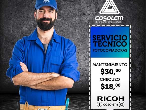 Reparación Copiadora Ricoh - Cosolem
