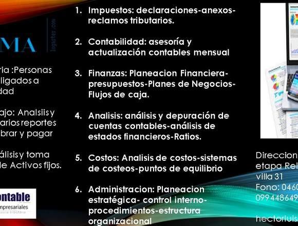 SERVICIOS CONTABLES TRIBUTARIOS FINANCIEROS
