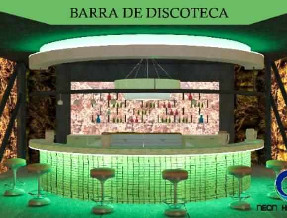 Decoración de Barra de discoteca