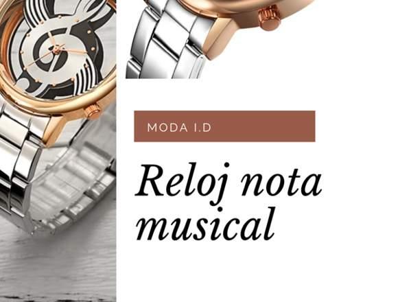 Reloj con diseño de nota musical