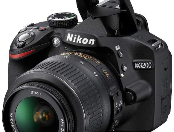 Nikon D3200 lente 18-55mm