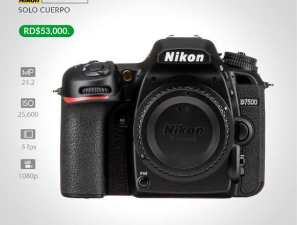 NIKON D7500 SOLO CUERPO Y ACCESORIOS