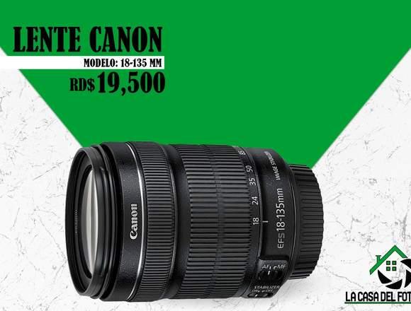 Lente Canon Modelo:18-135mm