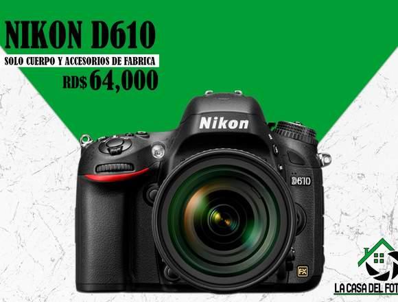 Nikon D610- Solo cuerpo