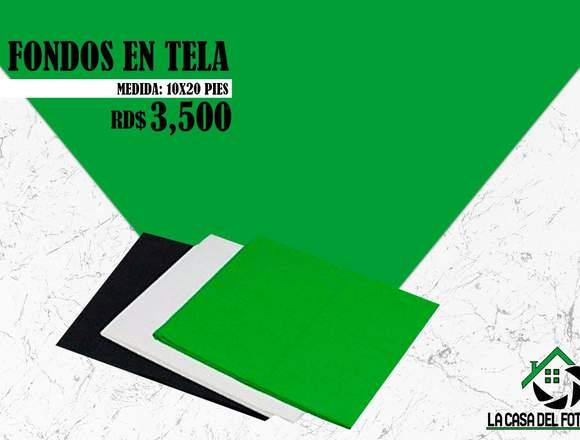 Fondos en Tela Medidas:10x20pies